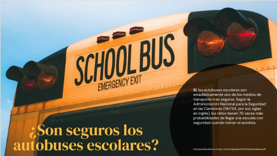 ¿Son seguros los autobus escolares?
